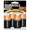 Duracell Multipurpose Battery - C - Alkaline - 1.5 V DC - 4 / Pack