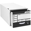 "Pendaflex Standard Pull-drawer Letter Storage Boxes - External Dimensions: 24"" Width x 12.9"" Depth x 10.3""Height - Media Size Supported: Letter - Stackable - White - For File - 1 Each"