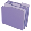 "Pendaflex Two-Tone Color File Folder - Letter - 8 1/2"" x 11"" Sheet Size - 1/3 Tab Cut - Assorted Position Tab Location - 11 pt. Folder Thickness - Lavender - 100 / Box"