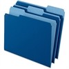 "Pendaflex Two-Tone Color File Folder - Letter - 8 1/2"" x 11"" Sheet Size - 1/3 Tab Cut - Assorted Position Tab Location - 11 pt. Folder Thickness - Navy Blue - 100 / Box"