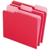 "Pendaflex Two-Tone Color File Folder - Letter - 8 1/2"" x 11"" Sheet Size - 1/3 Tab Cut - Assorted Position Tab Location - 11 pt. Folder Thickness - Red - 100 / Box"