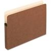 "Pendaflex Expanding File Pocket - Letter - 8 1/2"" x 11"" Sheet Size - 3 1/2"" Expansion - Manila, Red Fiber - Recycled"