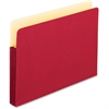 "Pendaflex Colored Expanding File Pocket - 3 1/2"" Folder Capacity - Letter - 8 1/2"" x 11"" Sheet Size - 3 1/2"" Expansion - Manila - Red - 1 Each"