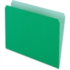 "Pendaflex Two-Tone Color File Folder - Letter - 8 1/2"" x 11"" Sheet Size - 11 pt. Folder Thickness - Light Green - 100 / Box"