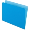 "Pendaflex Two-Tone Color File Folder - Letter - 8 1/2"" x 11"" Sheet Size - 11 pt. Folder Thickness - Blue - 100 / Box"