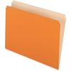 "Pendaflex Two-Tone Color File Folder1 - Letter - 8 1/2"" x 11"" Sheet Size - 11 pt. Folder Thickness - Orange - 100 / Box"