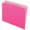 "Pendaflex Two-Tone Color File Folder - Letter - 8 1/2"" x 11"" Sheet Size - 11 pt. Folder Thickness - Pink - 100 / Box"