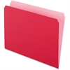 "Pendaflex Two-Tone Color File Folder - Letter - 8 1/2"" x 11"" Sheet Size - 11 pt. Folder Thickness - Red - 100 / Box"