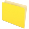 "Pendaflex Two-Tone Color File Folder - Letter - 8 1/2"" x 11"" Sheet Size - 11 pt. Folder Thickness - Yellow - 100 / Box"