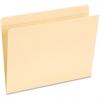 "Pendaflex Manila Top Tab Pocket Folder - Letter - 8 1/2"" x 11"" Sheet Size - Inside Front Pocket(s) - 1/3 Tab Cut - Assorted Position Tab Location - 11 pt. Folder Thickness - Manila - 50 / Box"