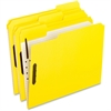 "Fastener Folder - Letter - 8 1/2"" x 11"" Sheet Size - 2 Fastener(s) - 2"" Fastener Capacity for Folder - 1/3 Tab Cut - Assorted Position Tab Location - Yellow - 50 / Box"