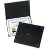 "Oxford Oxford Certificate Holder - Letter - 8 1/2"" x 11"" Sheet Size - Linen - Black - 5 / Pack"