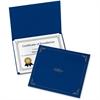 "Oxford Certificate Holder - Letter - 8 1/2"" x 11"" Sheet Size - Linen - Dark Blue - 5 / Pack"