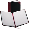 """Boorum & Pease 38 Series Record Book - 150 Sheet(s) - Thread Sewn - 9.62"""" x 7.62"""" Sheet Size - White Sheet(s) - Blue, Red Print Color - Black, Red Cover - 1 Each"""