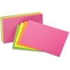 "Oxford Printable Index Card - 3"" x 5"" - 10% Recycled Content - 100 / Pack - Orange, Yellow, Pink, Orange"