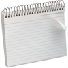 "Oxford Spiral-Bound 5"" x 8"" Index Cards - Printed - Spiral - Ruled - 5"" x 8"" - White Paper - Recycled - 1Each"