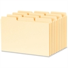 "Oxford 1/3-cut Blank Tab Index Card Guide - Blank Tab(s) - 4"" Divider Width x 6"" Divider Length - Buff Divider - 100 / Box"