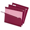 "Color Hanging Folder - Letter - 8 1/2"" x 11"" Sheet Size - 1/5 Tab Cut - Burgundy - 25 / Box"