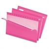 "Pendaflex Hanging Folder - Legal - 8 1/2"" x 14"" Sheet Size - 1/5 Tab Cut - Pink - 25 / Box"