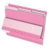 "Pendaflex Interior Folder - Letter - 8 1/2"" x 11"" Sheet Size - 1/3 Tab Cut - Pink - 100 / Box"