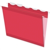 "Pendaflex Ready-Tab Reinforced Hanging Folder with Lift Tab - Letter - 8 1/2"" x 11"" Sheet Size - 1/5 Tab Cut - Red - 25 / Box"