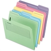 "Pendaflex Printed Notes Folder - Letter - 8 1/2"" x 11"" Sheet Size - 1 Fastener(s) - 1/3 Tab Cut - Assorted Position Tab Location - 11 pt. Folder Thickness - Manila - Assorted - 30 / Pack"