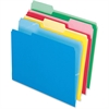 "Pendaflex Cutless File Folder - Letter - 8 1/2"" x 11"" Sheet Size - 1/3 Tab Cut - Assorted Position Tab Location - 11 pt. Folder Thickness - Blue, Red, Yellow, Green - 100 / Box"