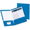 "Oxford Laminated Twin Pocket Folders - Letter - 8 1/2"" x 11"" Sheet Size - 2 Pocket(s) - Blue - 25 / Box"