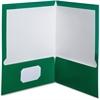 "Oxford Laminated Twin Pocket Folders - Letter - 8 1/2"" x 11"" Sheet Size - 100 Sheet Capacity - 2 Pocket(s) - Green - 25 / Box"