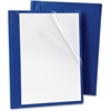 "Oxford Poly Presslock Report Covers - 1/2"" Folder Capacity - Polypropylene - Blue, Clear - 25 / Box"