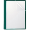 "Oxford Clear Front Report Cover - Letter - 8 1/2"" x 11"" Sheet Size - 100 Sheet Capacity - 3 x Tang Fastener(s) - 1/2"" Fastener Capacity for Folder - Leatherette - Hunter Green"