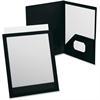 "Oxford ViewFolio Twin Pocket Window Portfolio - Letter - 8 1/2"" x 11"", 9 1/2"" x 11 5/8"" Sheet Size - 100 Sheet Capacity - 2 Pocket(s) - Polypropylene - Black - 1 Each"