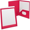 "Oxford ViewFolio Framed Twin Pocket Window Portfolio - Letter - 8 1/2"" x 11"", 9 1/2"" x 11 5/8"" Sheet Size - 2 Pocket(s) - Polypropylene - Red - 1 Each"