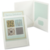"ViewFolio Framed Twin Pocket Window Portfolio - Letter - 8 1/2"" x 11"", 9 1/2"" x 11 5/8"" Sheet Size - 2 Pocket(s) - Polypropylene - White - 1 Each"
