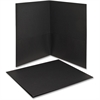 "Oxford Twin Pocket Folders - Letter - 8 1/2"" x 11"" Sheet Size - 100 Sheet Capacity - 2 Internal Pocket(s) - Leatherette Paper - Black - Recycled - 25 / Box"