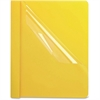 "Oxford Premium Clear Front Report Covers - 1/2"" Folder Capacity - Letter - 8 1/2"" x 11"" Sheet Size - Yellow, Clear - 25 / Box"