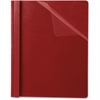 "Oxford Premium Clear Front Report Covers - 1/2"" Folder Capacity - Letter - 8 1/2"" x 11"" Sheet Size - Red, Clear - 25 / Box"