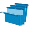 "Pendaflex SureHook Reinforced Extra Capacity Hanging Box Files - Letter - 8 1/2"" x 11"" Sheet Size - 2"" Expansion - Blue - Recycled - 25 / Box"