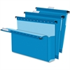 "Pendaflex SureHook Reinforced Extra Capacity Hanging Box Files - Letter - 8 1/2"" x 11"" Sheet Size - 3"" Expansion - Blue - Recycled - 25 / Box"