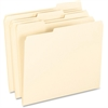 "Pendaflex Smart Shield File Folders - Letter - 8 1/2"" x 11"" Sheet Size - 1/3 Tab Cut - Right/Left Tab Location - 11 pt. Folder Thickness - Manila - Manila - 100 / Box"
