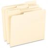 "Pendaflex Smart Shield File Folders - Letter - 8 1/2"" x 11"" Sheet Size - 1/3 Tab Cut - Right/Left Tab Location - 11 pt. Folder Thickness - Manila - Manila - 100 / Box"
