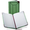 "Boorum & Pease Record-Ruled Canvas Books - 150 Sheet(s) - Thread Sewn - 12.50"" x 7.62"" Sheet Size - White Sheet(s) - Blue, Red Print Color - Green, Red Cover - 1 Each"
