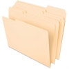 "Pendaflex Essentials File Folder - Letter - 8 1/2"" x 11"" Sheet Size - 3/4"" Expansion - 1/3 Tab Cut - Assorted Position Tab Location - 11 pt. Folder Thickness - Manila - 100 / Box"