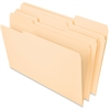 "Pendaflex Essentials File Folder - Legal - 8 1/2"" x 14"" Sheet Size - 3/4"" Expansion - 1/3 Tab Cut - Assorted Position Tab Location - 11 pt. Folder Thickness - Manila - 100 / Box"