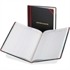"Boorum & Pease Visitor's Register Book - 150 Sheet(s) - Thread Sewn - 14.12"" x 10.87"" Sheet Size - White Sheet(s) - Black, Red Cover - 1 Each"