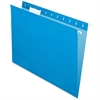 "Pendaflex Essentials Color Hanging Folders - Letter - 8 1/2"" x 11"" Sheet Size - 1/5 Tab Cut - Blue - 25 / Box"