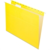 "Pendaflex Essentials Color Hanging Folders - Letter - 8 1/2"" x 11"" Sheet Size - 1/5 Tab Cut - Yellow - 25 / Box"