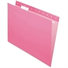 "Pendaflex Hanging Folder - Letter - 8 1/2"" x 11"" Sheet Size - 1/5 Tab Cut - Pink - 25 / Box"