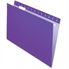 "Pendaflex Essentials Color Hanging Folders - Letter - 8 1/2"" x 11"" Sheet Size - 1/5 Tab Cut - Violet - 25 / Box"