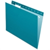 "Pendaflex Essentials Color Hanging Folders - Letter - 8 1/2"" x 11"" Sheet Size - 1/5 Tab Cut - Teal - 25 / Box"